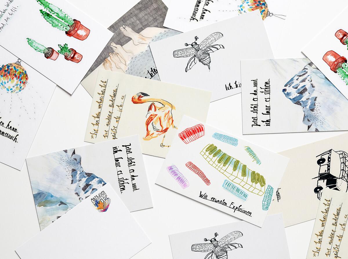 Matrosenhunde, Postkarten