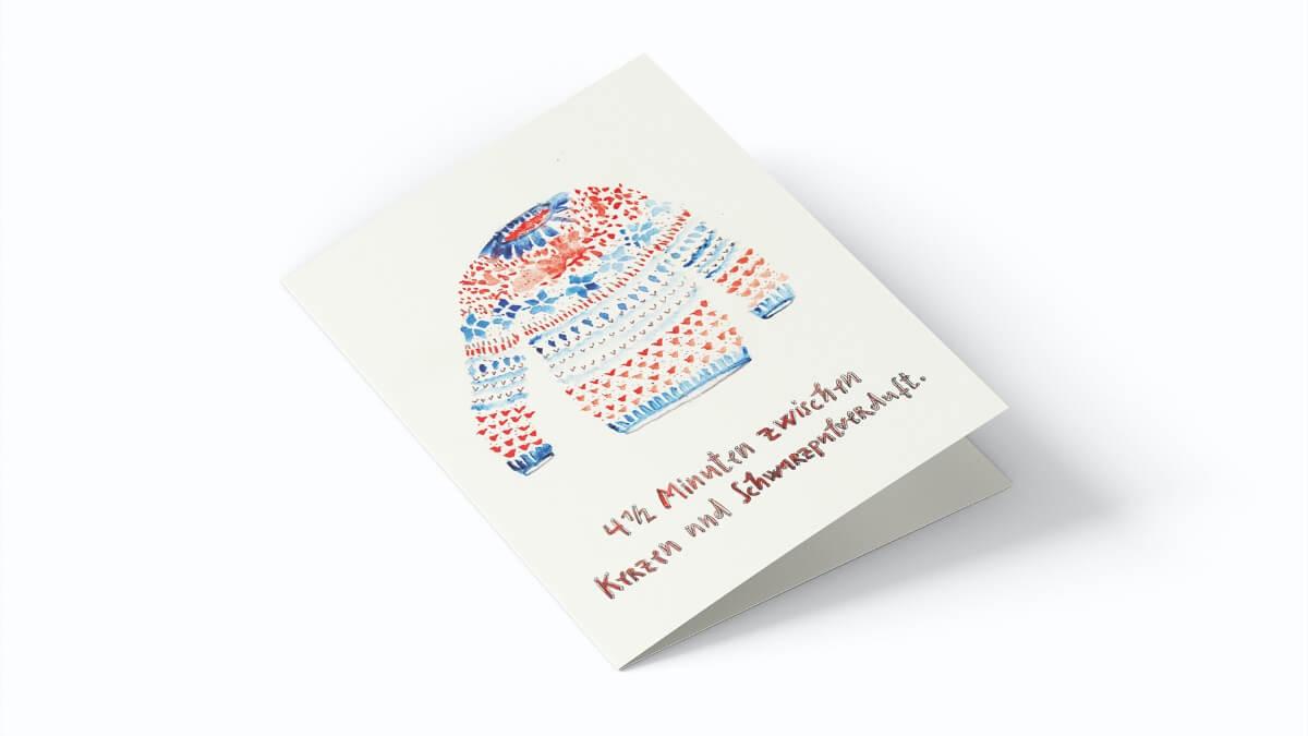 Matrosenhunde, Weihnachtskarte, 4 1/2 Minuten zwischen Kerzen und Schwarzpulverduft
